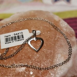 Jewelry - Sterling silver heart charm necklace